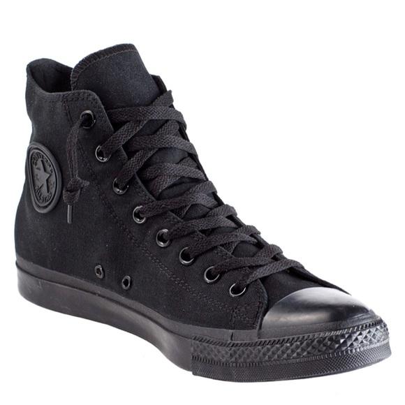 Black High Top Converse Sneakers Mens 9